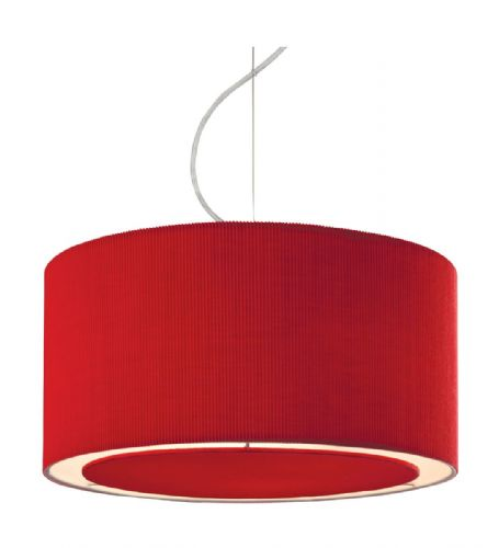 Firstlight 8311RE Chrome with Red Shade Clio Pendant